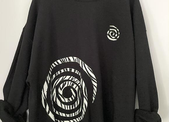 Zebra Swirly Patch Sweatshirt
