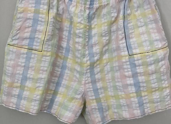 Happy Plaid Comfy Shorts