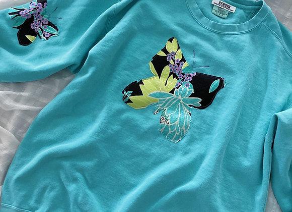 Butterfly Patchwork Sweatshirt