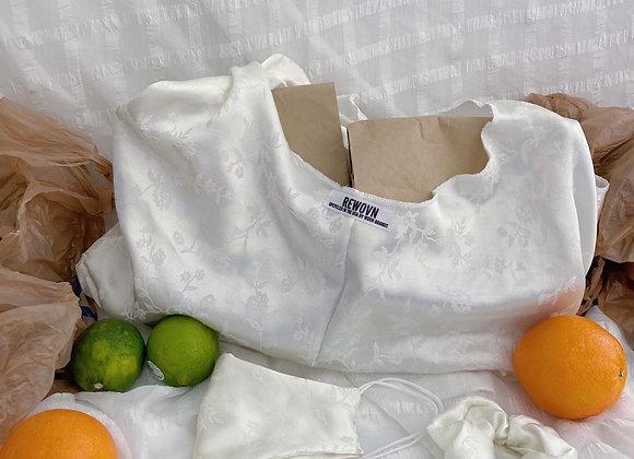 Silky Snowy Floral Market Bag Set