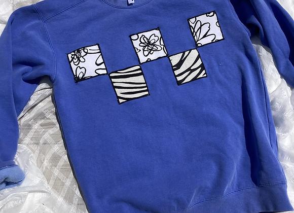 Zebra Floral Patch Sweatshirt