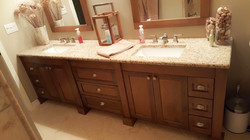 Long Maple Vanity
