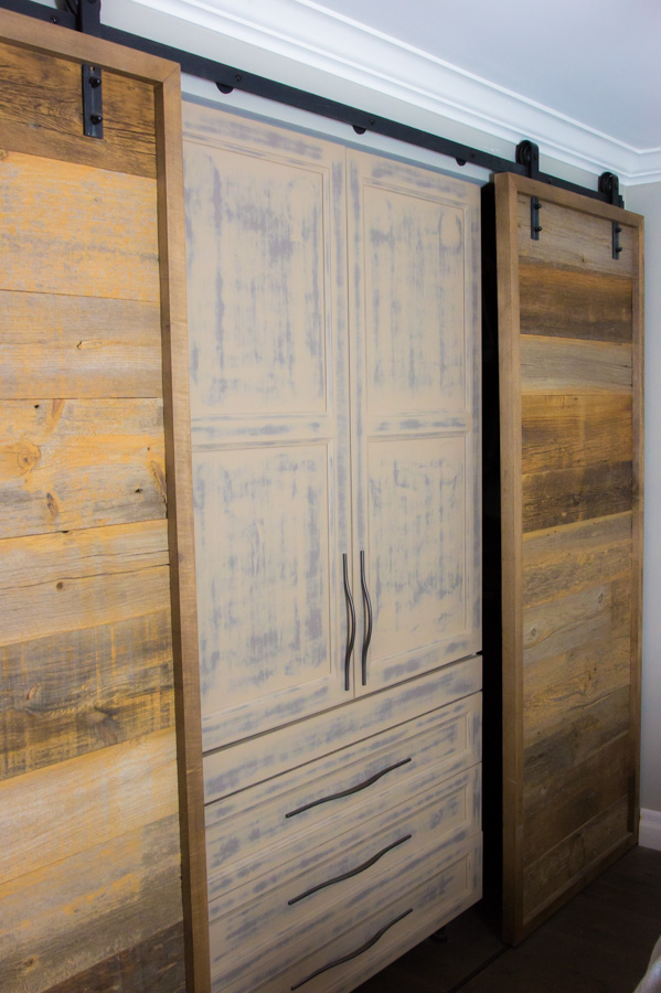 Barn board doors