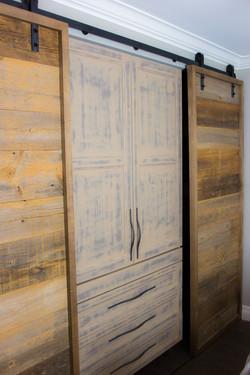 Barn board doors