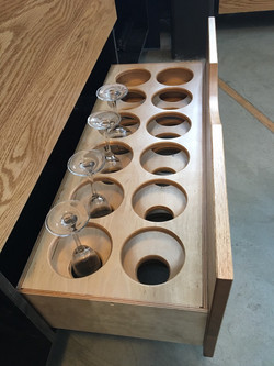 Wine glass drawer