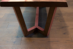 Curvy inlay coffee table