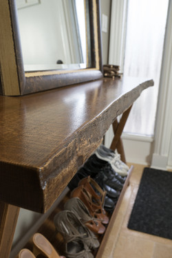 Solid Oak Entry Table