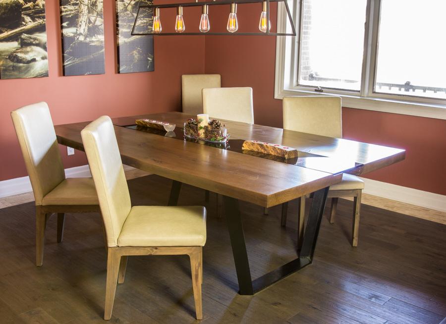 Solid oak river table