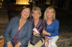 Ruth Winkler, Pat Fitzpatrick and Cheryl Newton awaiting the Vienna Boys Choir P