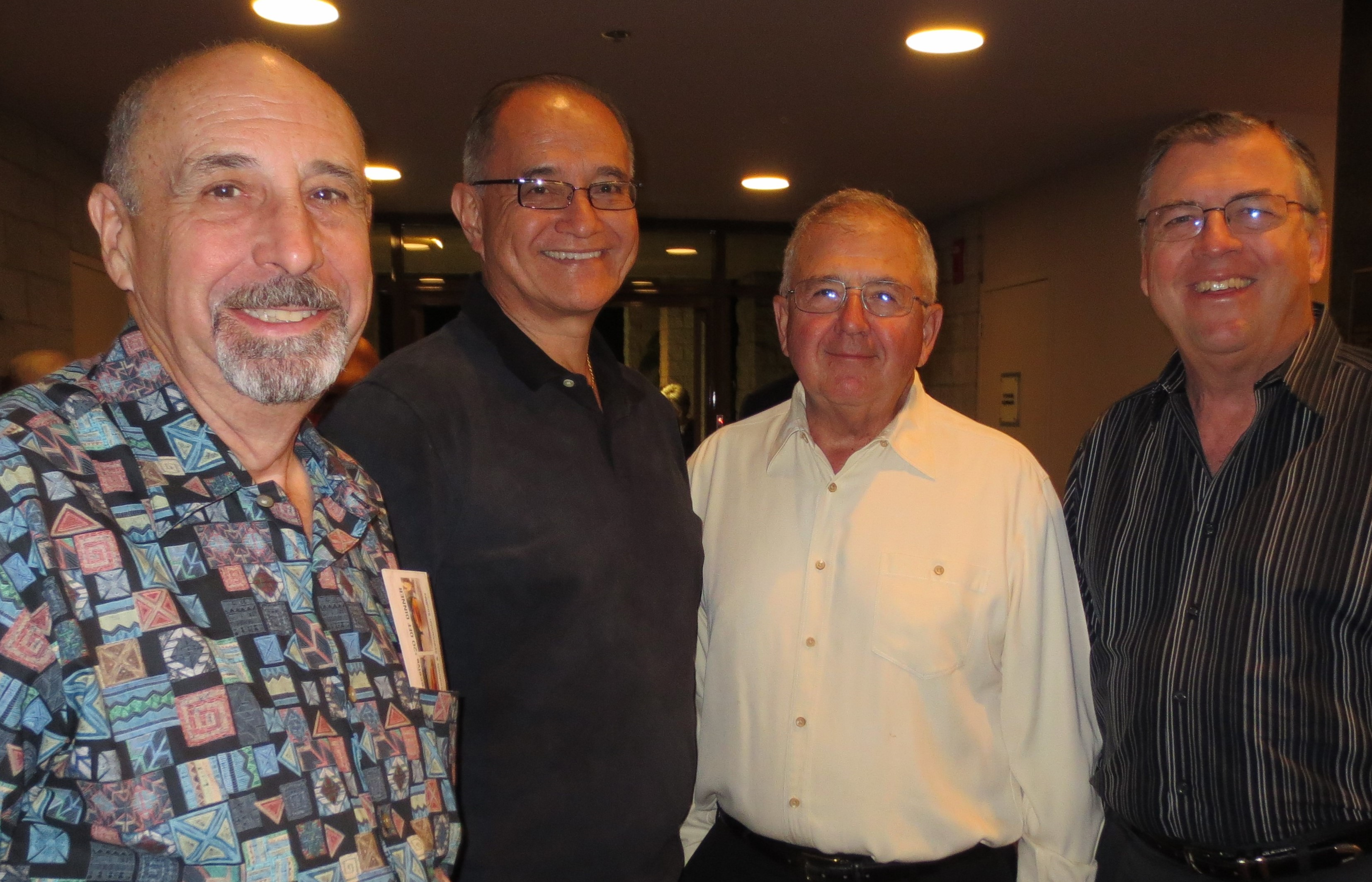 George Steele, Mark Schultz, Ron Salzetti and David Small inside the McCallum Lo