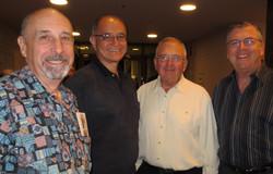 George Steele, Mark Schultz, Ron Salzetti and David Small inside the McCallum Lo