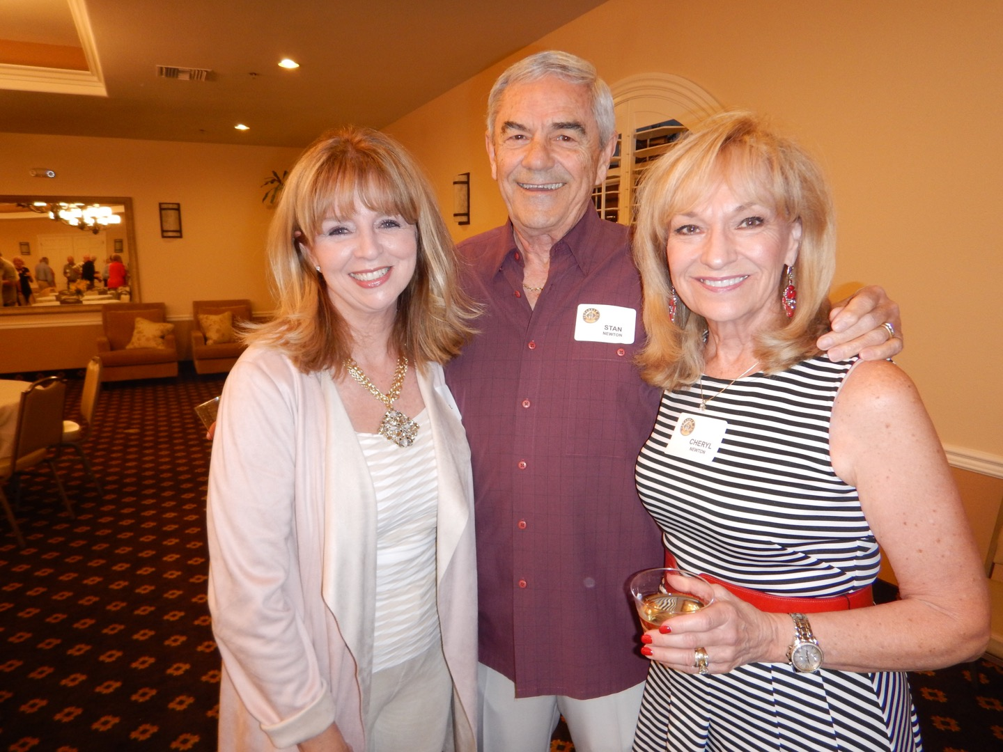 Cheryl Noble with Stan and Cheryl  Newton