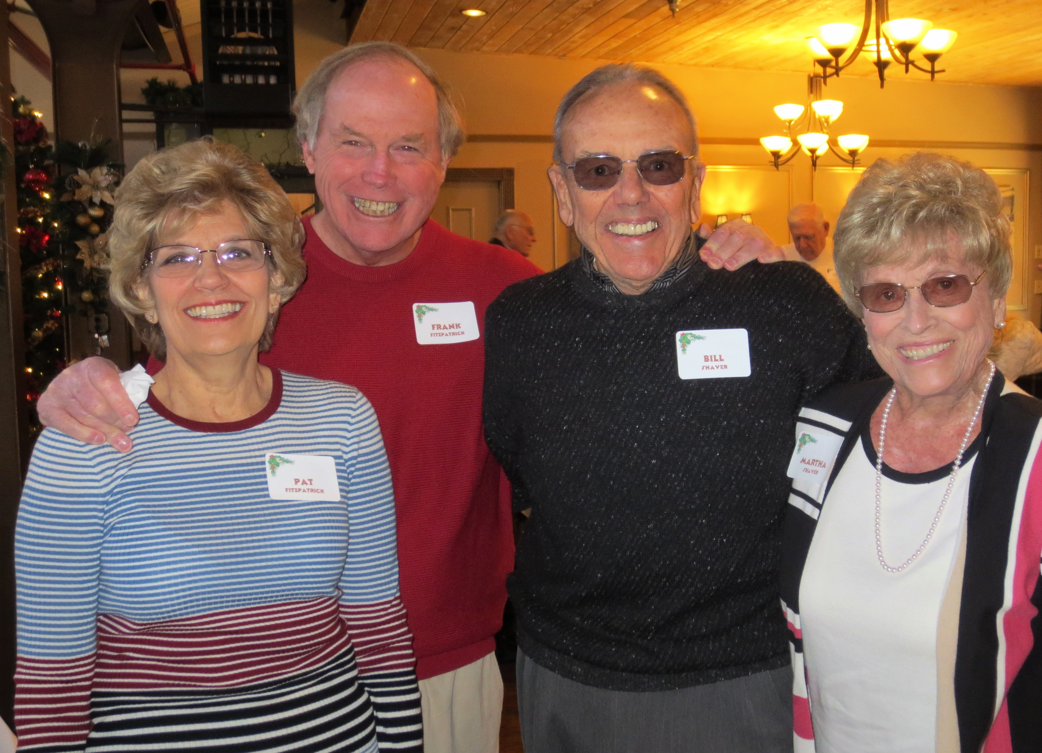 Pat & Frank Fitzpatrick with Bill &  Martha Shaver