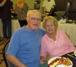Terry and Kay Prindiville enjoy the hospitality at the Spring Fling Buffet.JPG