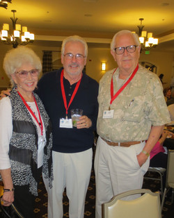 Edna and Jim McKeown along with Les Olander ar Opening Night Reception - Copy.JP