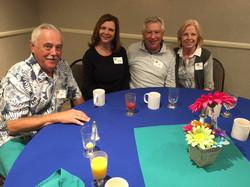 Jeff and Jennifer Paige alongside  Ken and Susan Dall