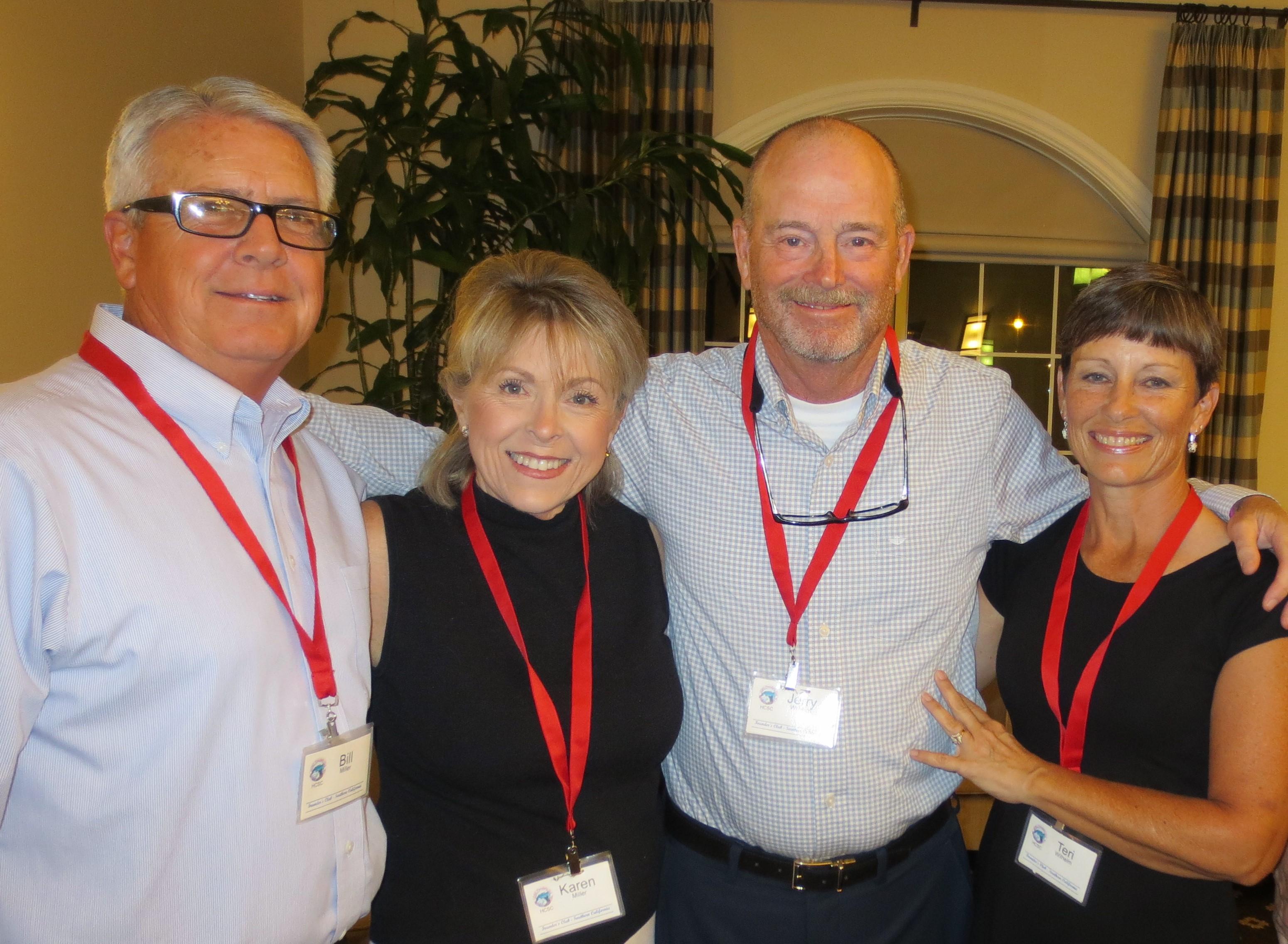 Bill and Karen Miller alongside Jerry and Terri  Wilhelm