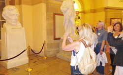 Members Take in Bust of Abraham Lincoln in Statuary Hall