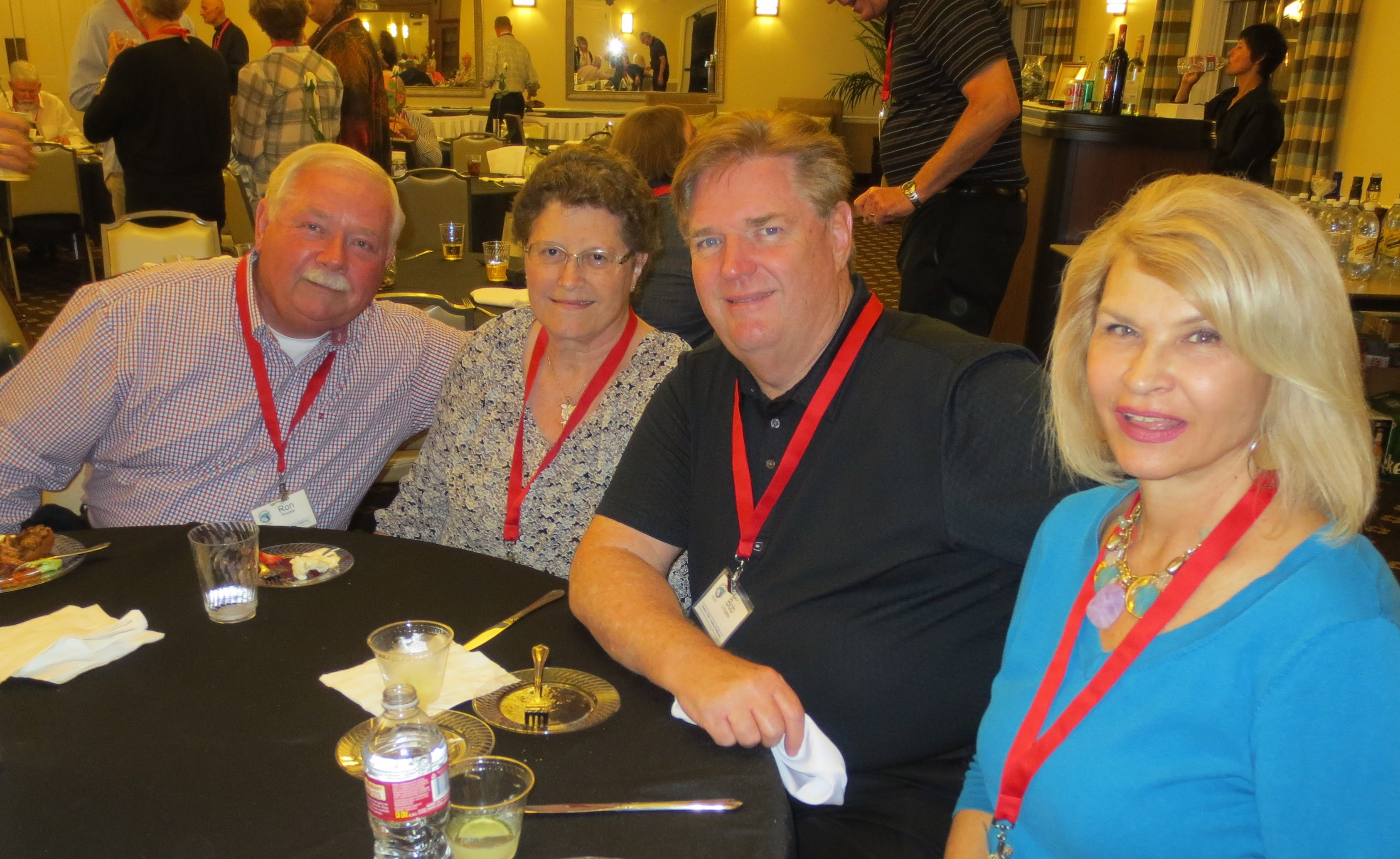 Ron and Janice Rhoads and Bob and Barbara Livingston at Opening Night Reception.