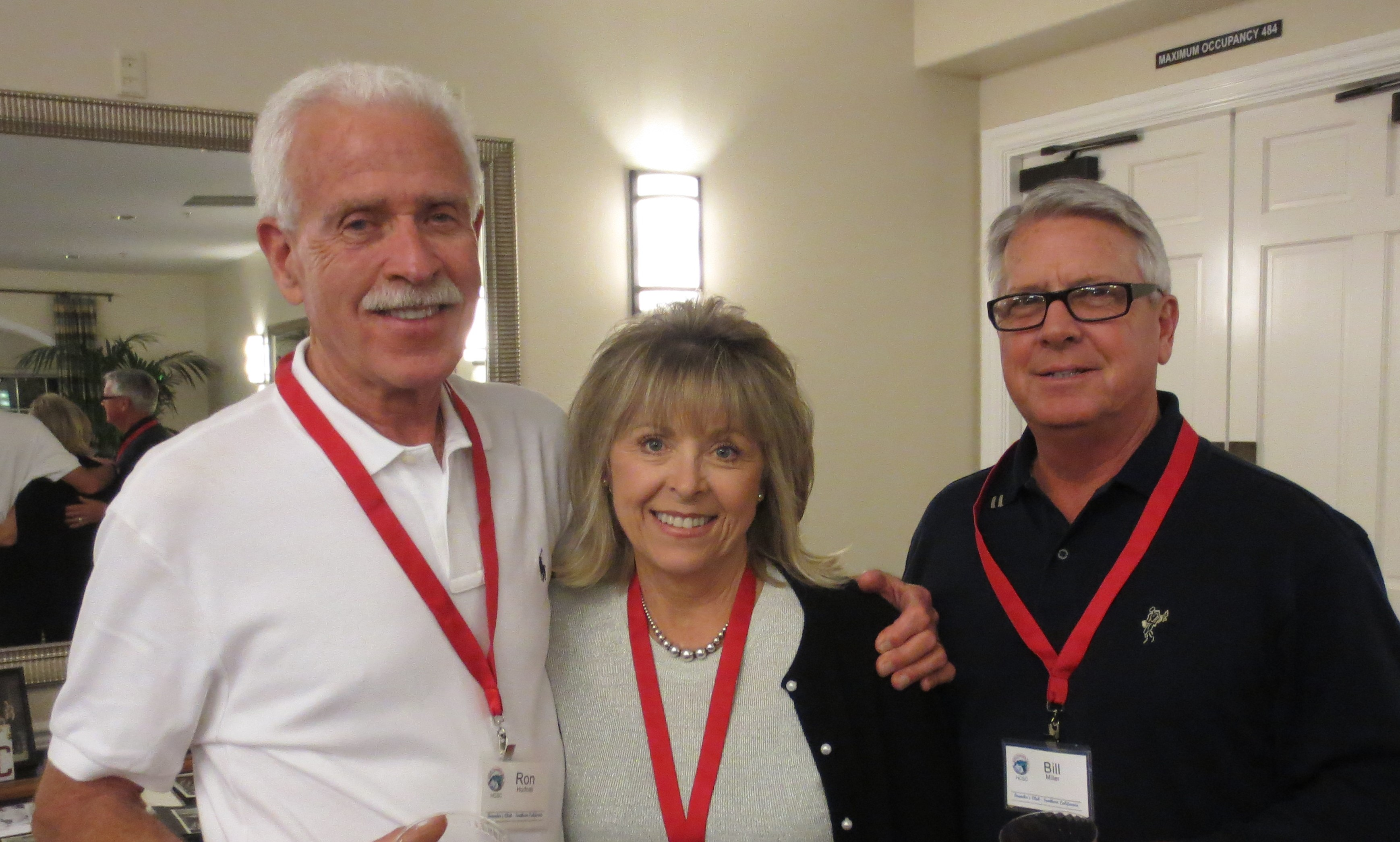Ron Hudnall alongside Karen and Bill Miller at the Four Seasons Clubhouse.JPG