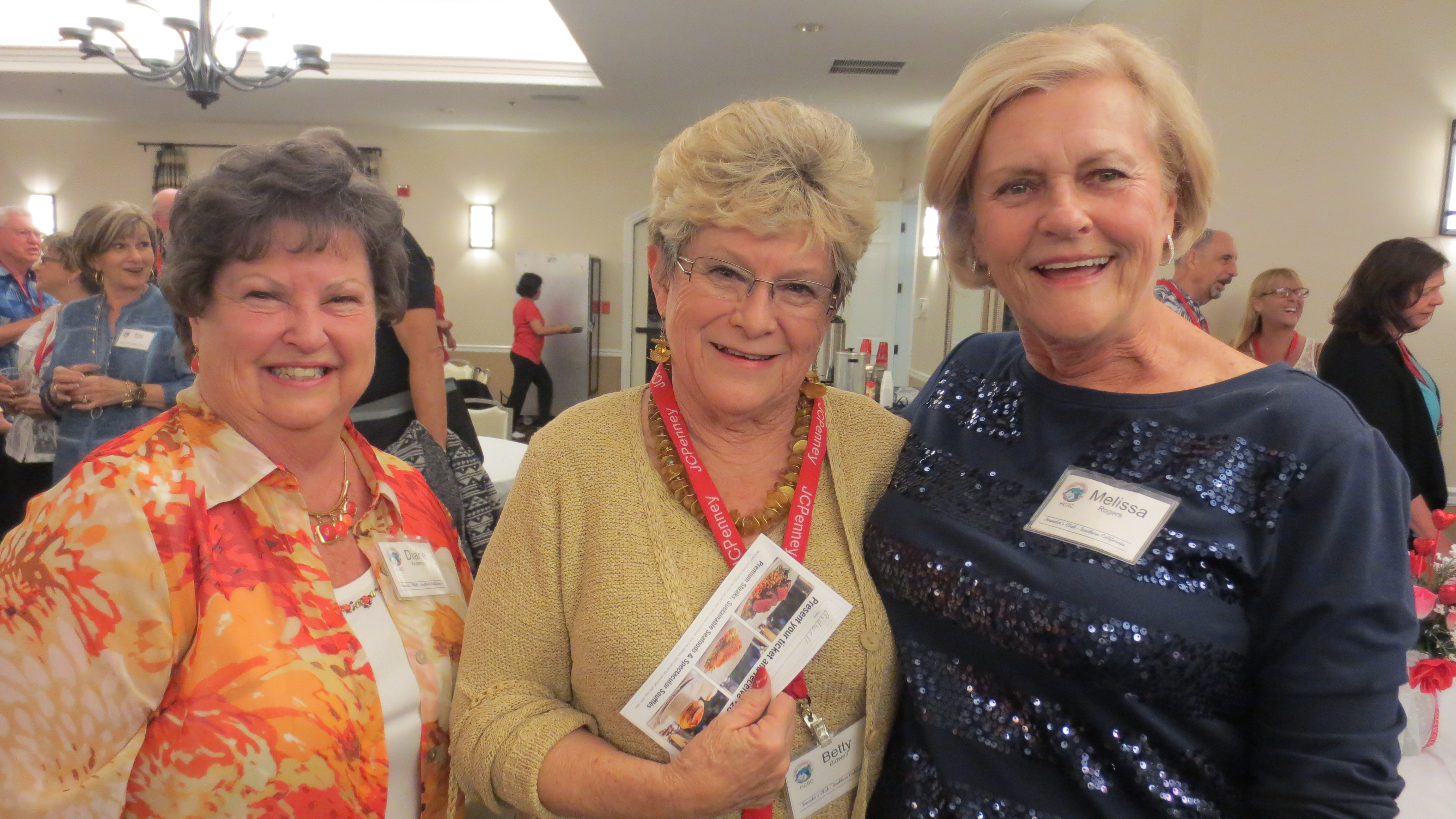 Diane Anderson, Betty Bidwell and Mo Rogers