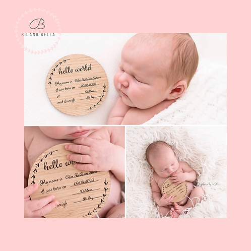 Birth announcement disk