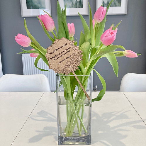 Personalised Mother's Day flower sign