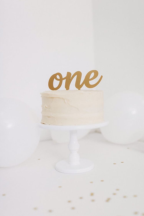 Large Number (written) cake topper