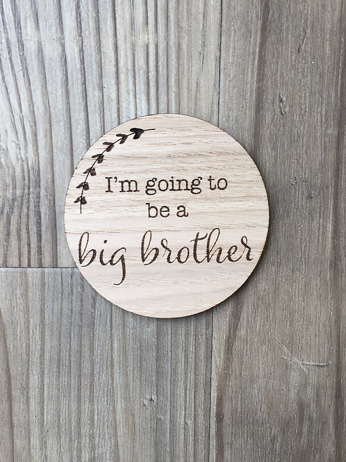 I'm going to be a big brother/sister