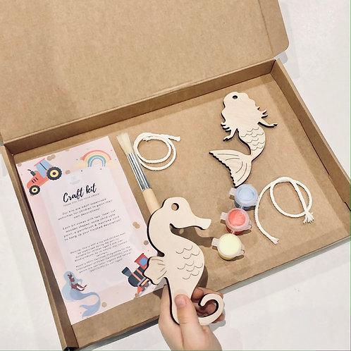 Mermaid & Seahorse Craft Kit