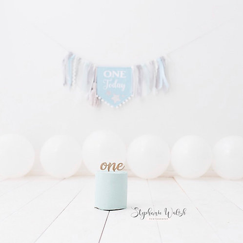 Small Number (written) cake topper