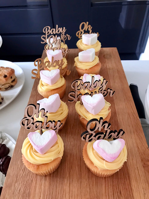 Baby Shower set of 3 mini cake toppers