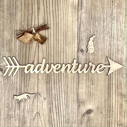 Adventure arrow sign