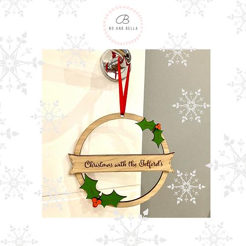 Christmas Wreath Hoop