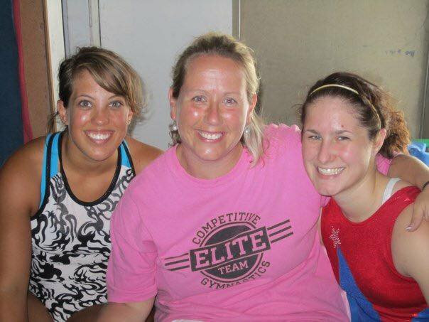 Me, Coach Kristi, and Briggs on our last day of practice before we left for college