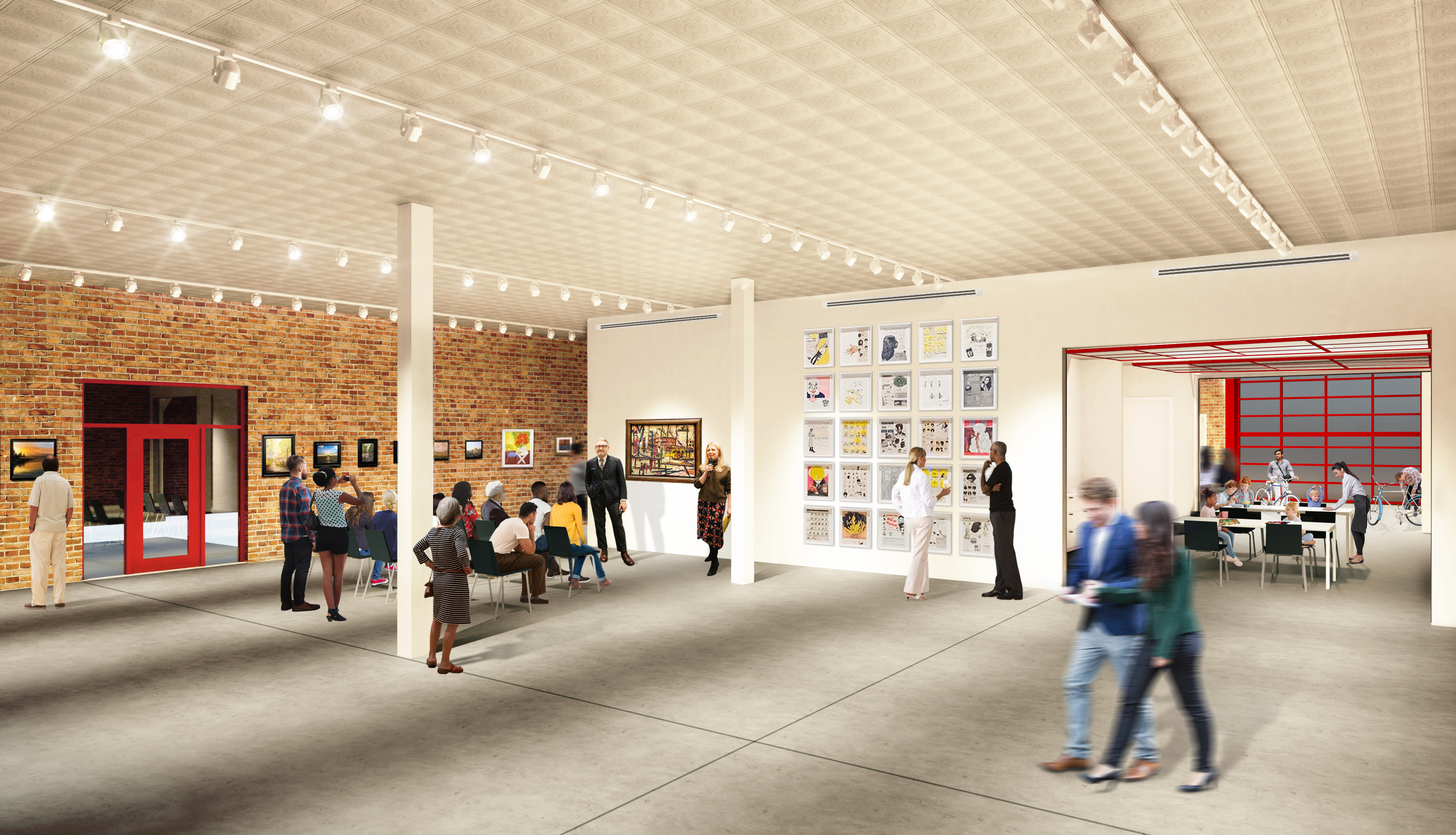 Gallery and multipurpose space