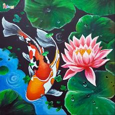Koi Fish in lotus pond $280