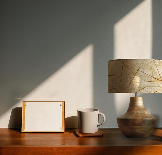lampara de mesa madera
