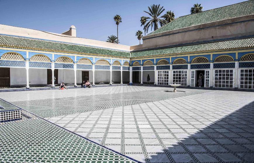 Palác Bahia v Marrákeši