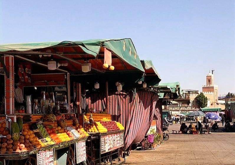 fruit stalls at main square