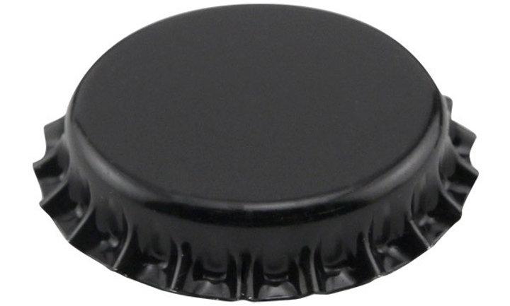 Bottle Caps - Black Pk 100