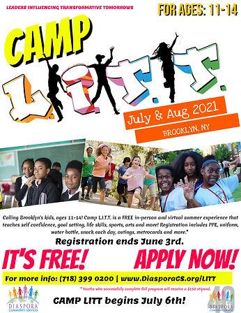 Camp LITT Summer Flyer