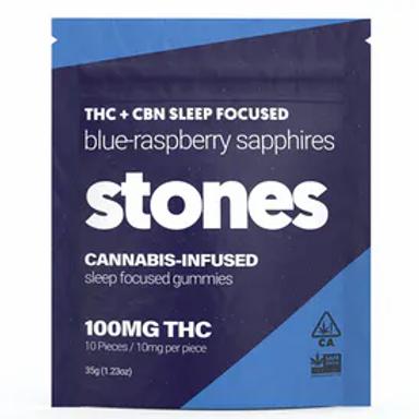 STONES - BLUE-RASPBERRY SLEEP GUMMIES (100MG)
