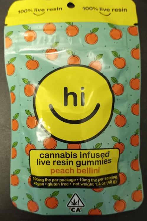 100% Live Resin Gummies=Peach Bellini