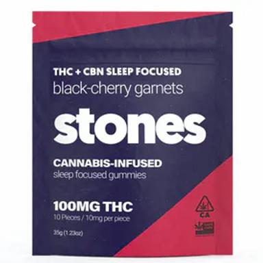 STONES - BLACK-CHERRY SLEEP GUMMIES (100MG)
