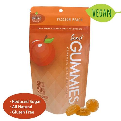 Sensi Gummies Passion Peach 1:1: Vegan + Low Sugar