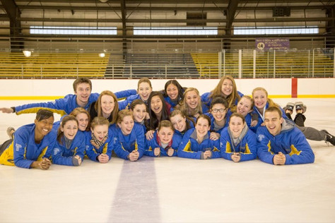UD Collegiate Figure Skating Team Takes Gold at SUNY Geneseo
