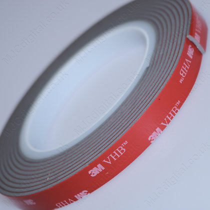 3M VHB 10mm x 3m x 2.3mm Grey Acrylic Foam Double Sided Attachment Heavy