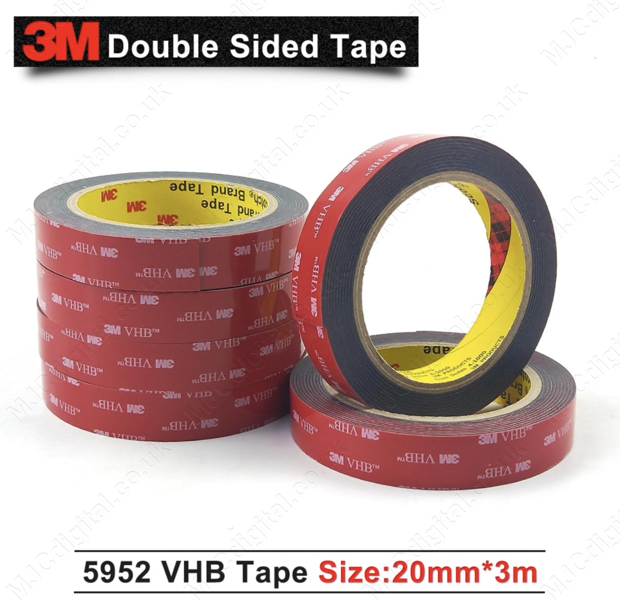 3M VHB 20mm x 3m x 1.1mm BLACK