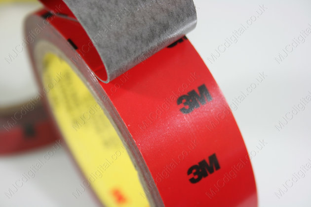 3M x 12mm Auto Acrylic Foam Double Sided Attachment Adhesive Tape